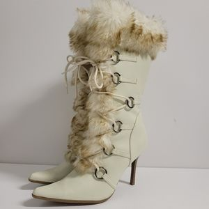 Ivory Boots Size 8